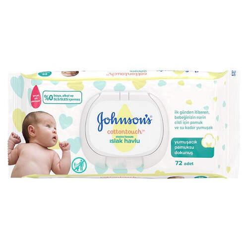 Johnsons Baby 72'li Yeni Doğan  Islak Havlu