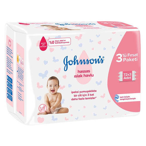 Johnsons Baby Islak Havlu 72 3'lü