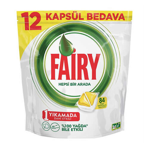 Fairy Sarı Kapsül 84'lü Tablet