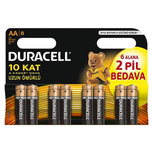 Duracell Kalem Pıl 6+2 Aaa