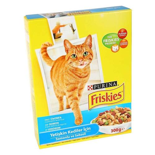 Frıskıes Yetişkin Kedi Somonlu Ve Sebzeli 300gr