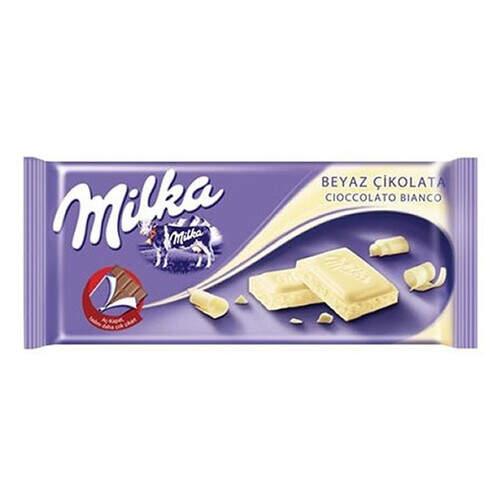 Milka Tablet Beyaz Çikolata 80 Gr.