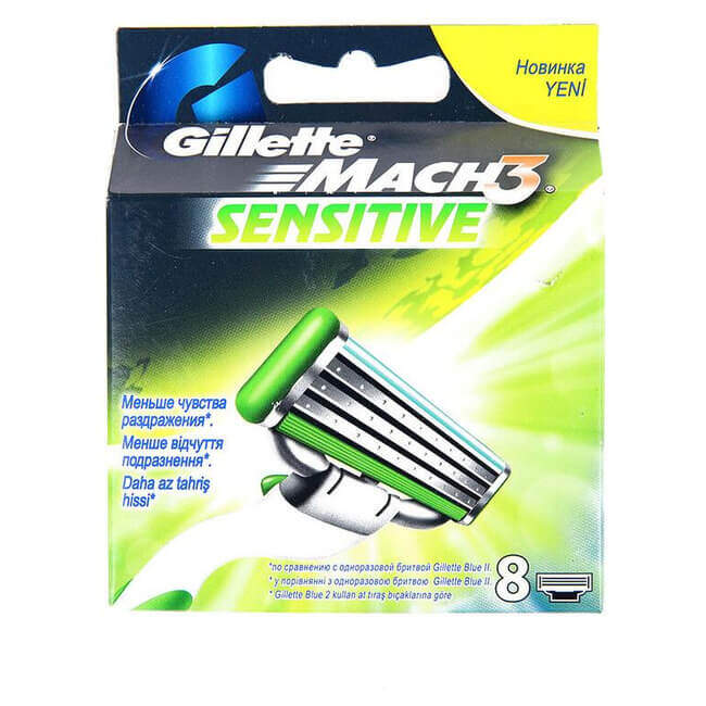 Gillette Mach 3 Sensitive 8'li Traş Bıçağı
