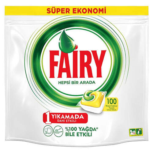 Fairy Hepsi Bir Arada Kapsül Sarı 100'lü Paket