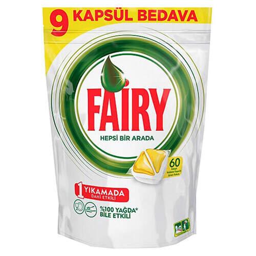 Fairy Hepsi Bir Arada 60'lı Tablet Sarı