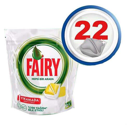 Fairy Hepsi Bir Arada Kapsül Sarı 22'li Paket