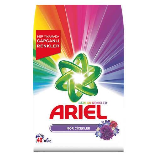 Ariel 3d Actives Mor Çiçekler 6000 Gr.