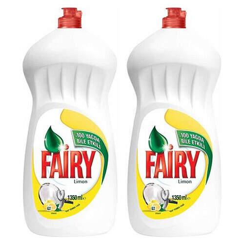 Fairy Sıvı Bulaşık Deterjanı 1350ml+1350ml.