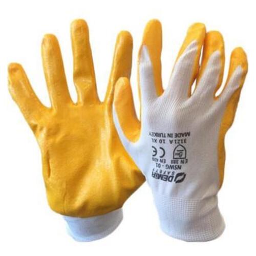 Demir İşçi Eldiven Sarı N0:9