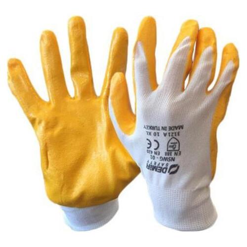 Demir İşçi Eldiveni Sarı No:10
