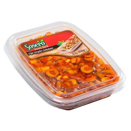 Sosero Ege Zeytin Salatası Vakumlu 250 Gr.