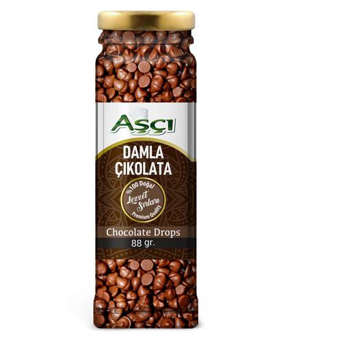 Aşcı Damla Çikolata Cam 88 Gr