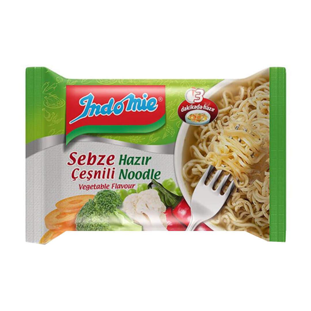 İndo Mie Paket Sebzeli Noodle 75 Gr.