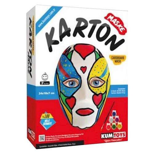 Akıl-zeka Kutulu Karton Maske