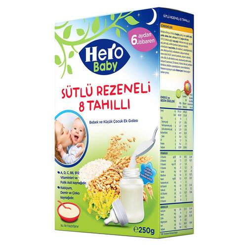 Ülker Hero Baby 8 Tahıllı Sütlü Rezeneli 200 Gr.