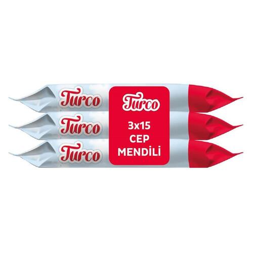 Turco Cep Islak Mendil 15 Li 3 Paket