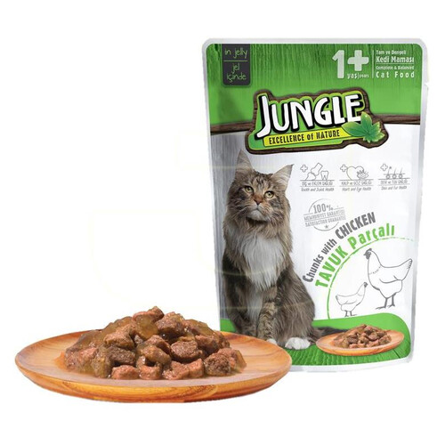 Jungle Pouch Yetışkın Kedı  Tavuk Parçalı 100 G