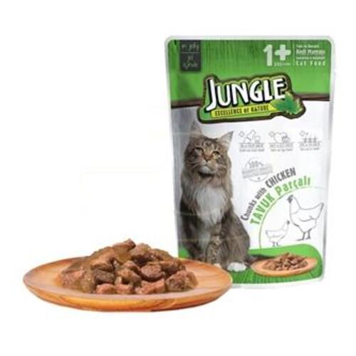 Jungle Pouch Yavru Kedi Tavuk Parçalı 100 G