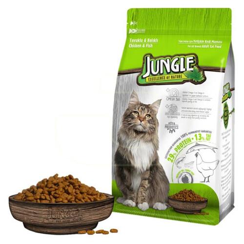 Jungle 500 G Tavuk-balıklı Yetışkın Kedı Maması