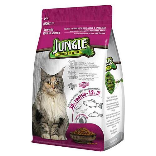 Jungle 1,5 Kg Somonlu Kısır Kedı Maması