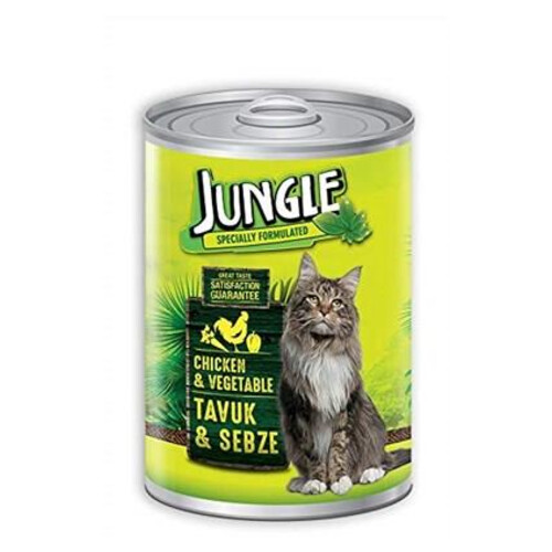 Jungle Kedi Konservesi 415gr.tavuklu-sebzeli