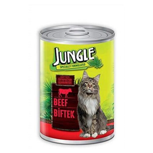 Jungle Kedi Konservesi 415gr.biftekli