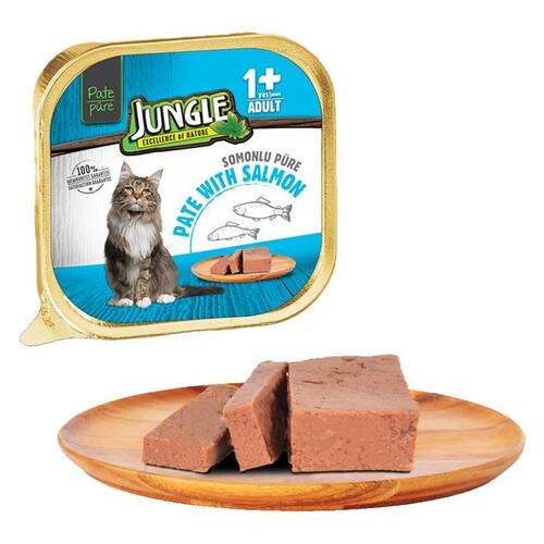 Jungle Püre Yetışkın Kedı Somonlu 100 G
