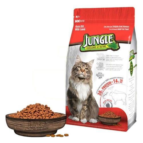 Jungle 500 Gr.kuzu Etli Yetişkin Kedi Maması