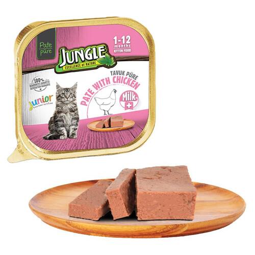 Jungle Püre Yavru Kedı Sütlü-tavuklu 100 G