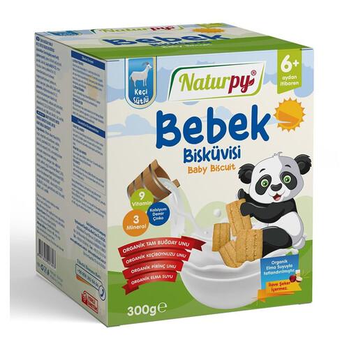 Naturpy Bebe Bisküvisi 300gr.organik Keçi Sütlü