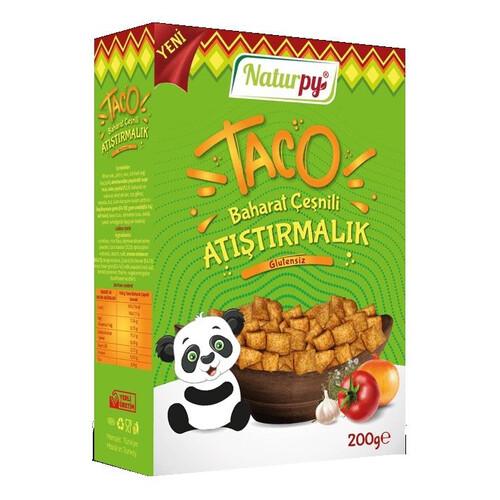 Naturpy Glutensiz Taco Baharat Çesnili Atıştırmalık 200gr.