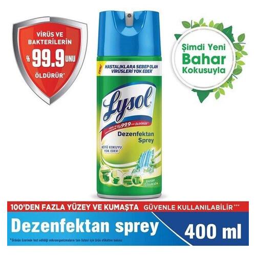 Lysol Crıps Bahar Sprey Dezenfektan 400 Ml