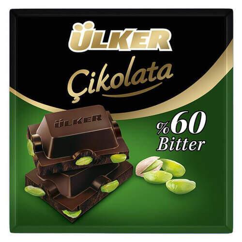 Ülker Fıstıklı Kare Bitter Çikolata 70 Gr.