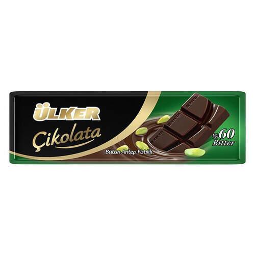Ülker Bitter Antep Fıstıklı Baton Çikolata 32 Gr.
