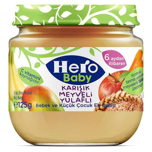 Ülker Hero Baby Karışık Meyveli Tahıllı 125 Gr.