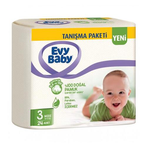 Evy Baby Tanisma Paketi No 3 Midi 24lü Çocuk Bezi