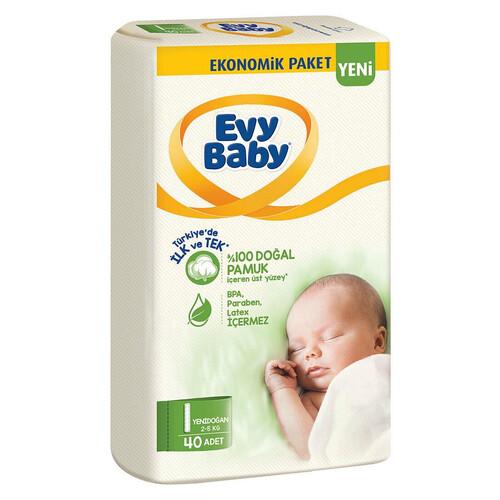 Evy Baby Ekonomik Paket No 1 Yeni Doğan 40 Lı Çocuk Bezi