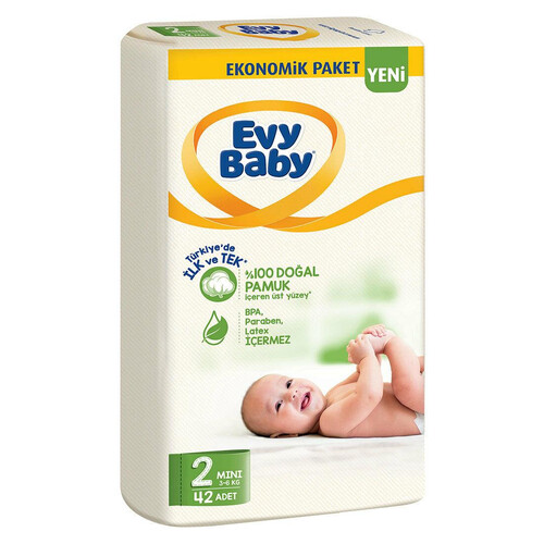 Evy Baby Ekonomik Paket No 2 Mini 42li Çocuk Bezi