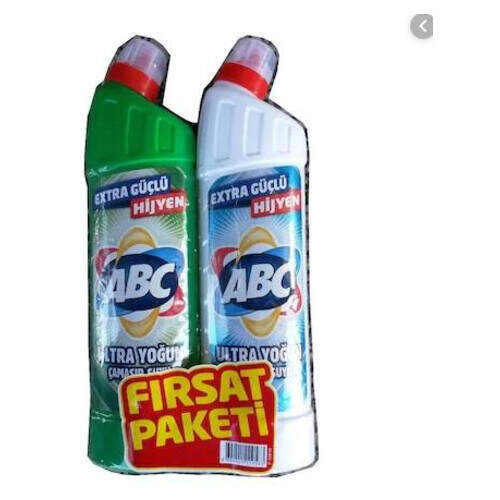 Abc Ultra Çamaşır Suyu Dağ Esinti + Beyaz 810+810 Ml.