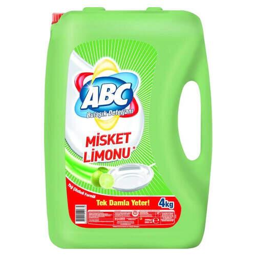 Abc Limon Sıvı Misket Bulaşık Deterjanı 4000 Ml.
