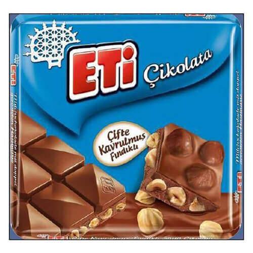 Eti Fındıklı Kare Çikolata 70 Gr.