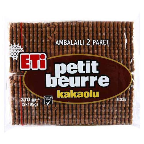 Eti Petit Beurre Kakaolu Bisküvi 370 Gr.