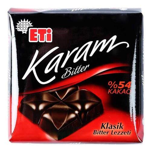 Eti Karam %54 Bitter Klasik Kare Çikolata 70 Gr.