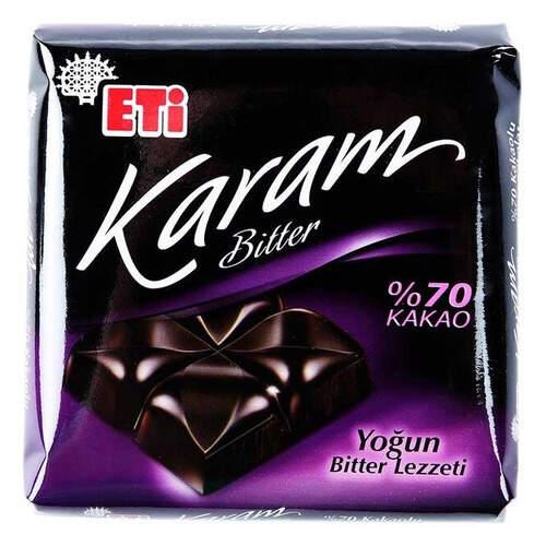 Eti Karam %70 Bitter Kare Çikolata 70 Gr.