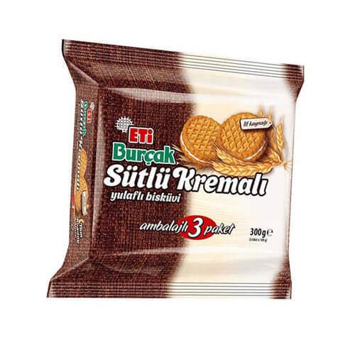 Eti Burçak Sütlü Kremalı Bisküvi 300 Gr.