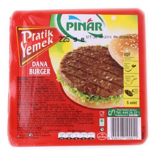 Pınar Burger 4 Adet 225 Gr.