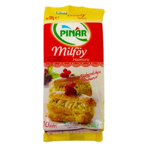 Pınar Milföy Hamuru 10 Adet 500 Gr.