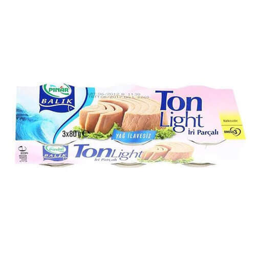 Pınar Ton Light 3'lü 80 Gr.