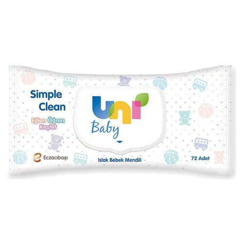 Unı Baby Sıple Clean Islak Havlu 72 Lı