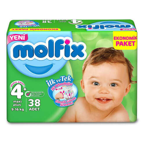 Molfix Ekonomik Paket Maxi Plus (4+) 9-16 Kg 34'lü